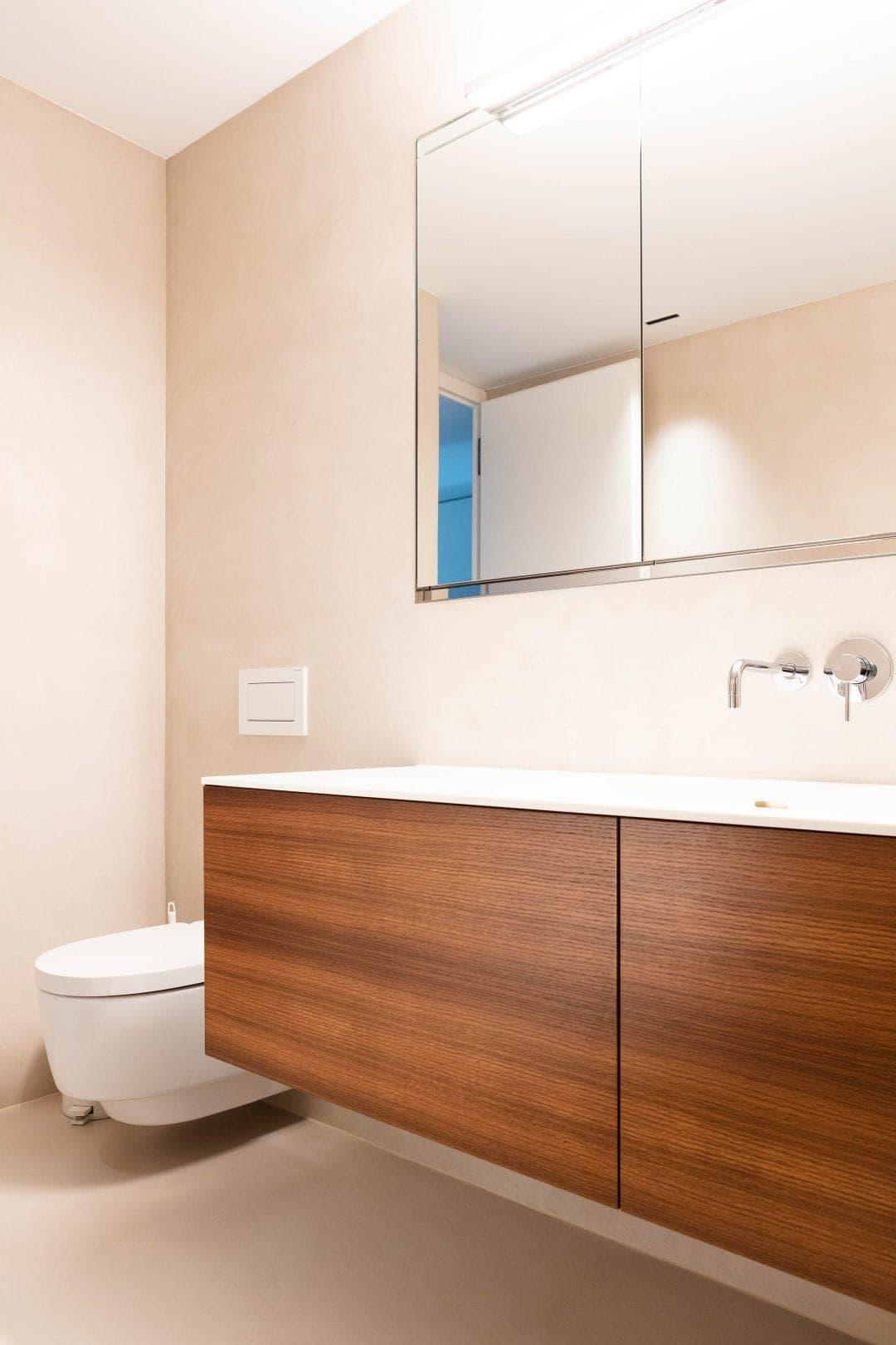 Odermatt Ideenschreinerei Bad Toilette Spiegel Lavabo